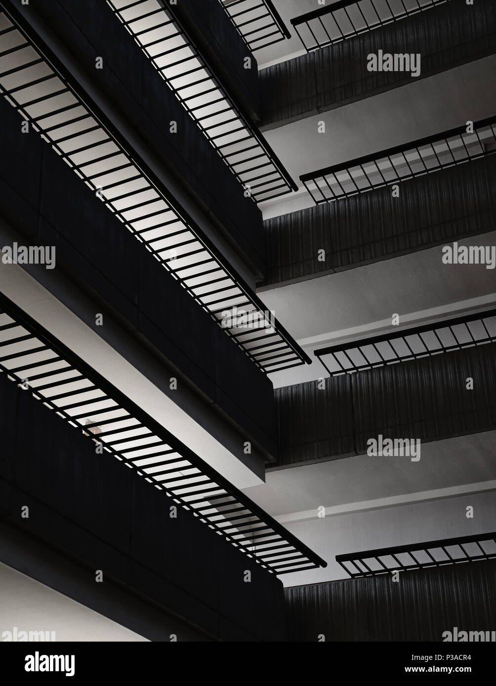 architecture is art inside the Marriott in Atlanta, Georgia - Stock Image