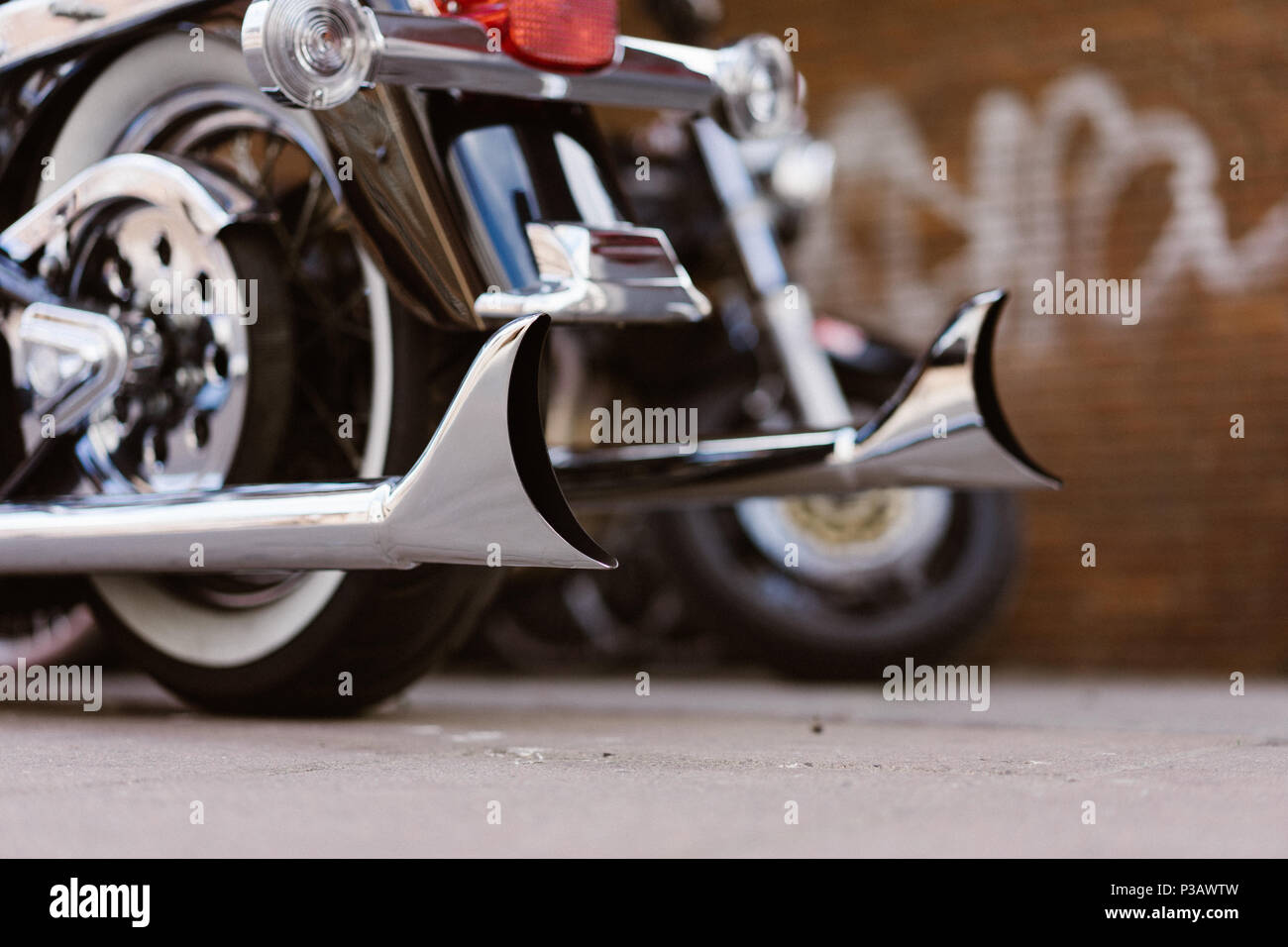 Fishtail Exhaust Pipe High Resolution Stock Photography And Images Alamy