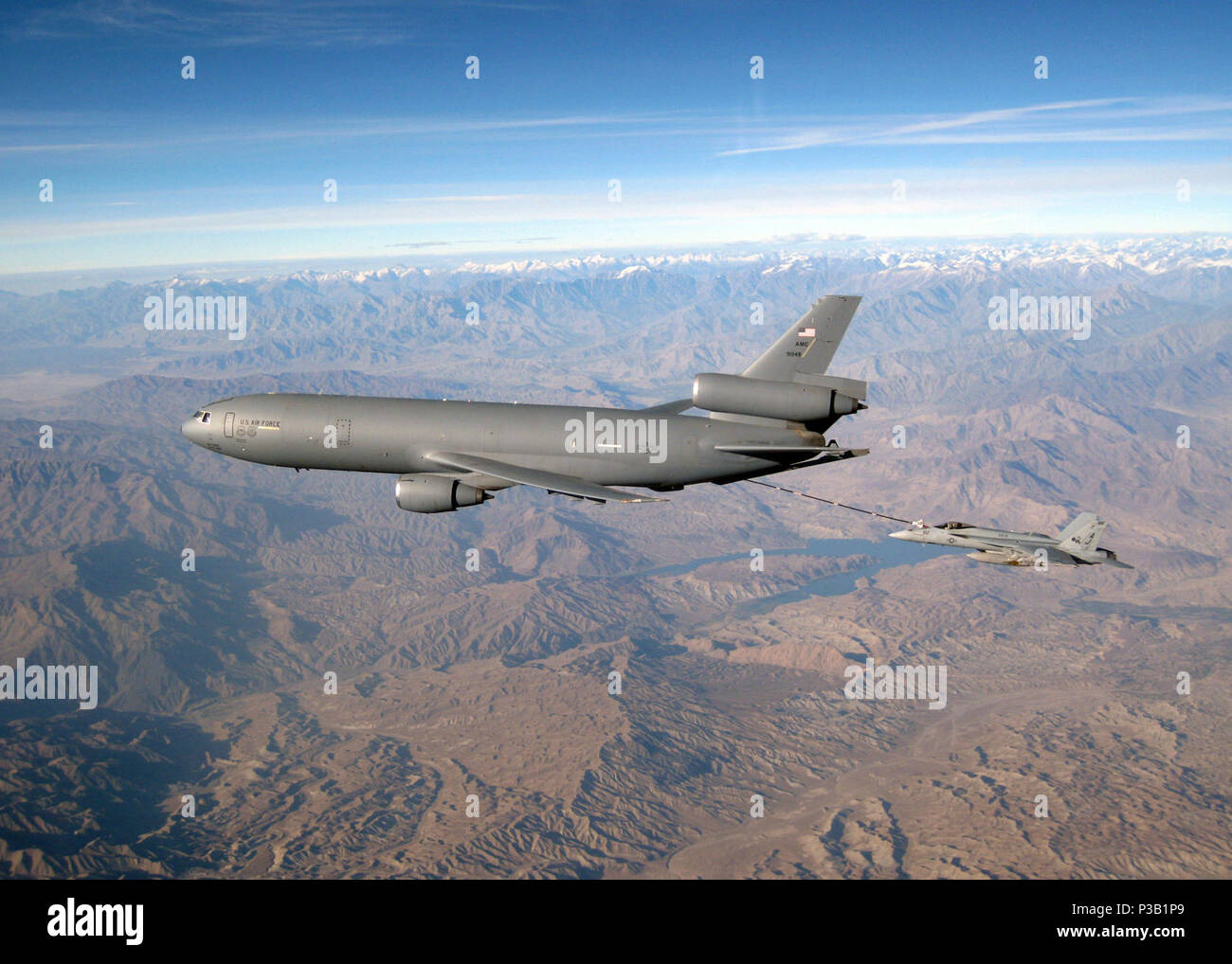 Nov  5, 2008) A U S  Air Force KC-10 Extender refuels an F/A 18