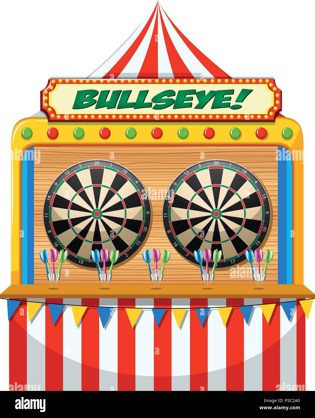 A Fun Fair Game Booth illustration - Stock Vector