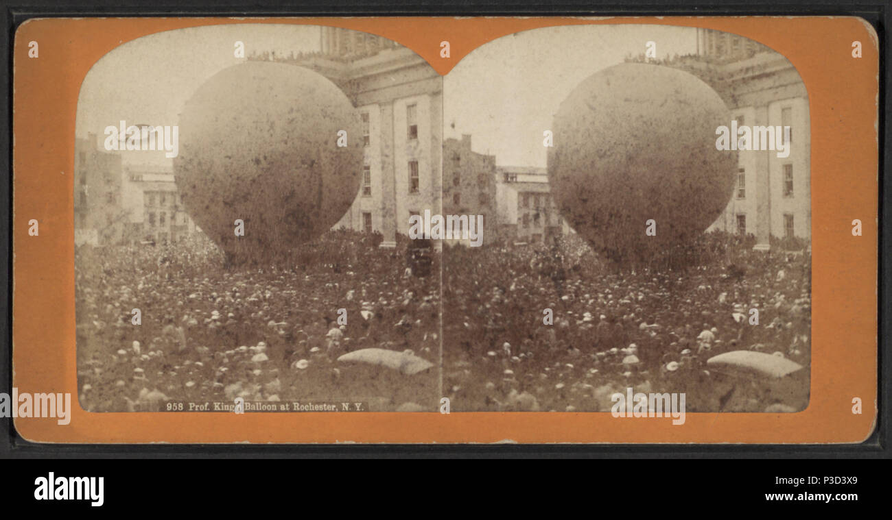 Prof  King's Baloon at Rochester, N Y  Created: 1872  Coverage
