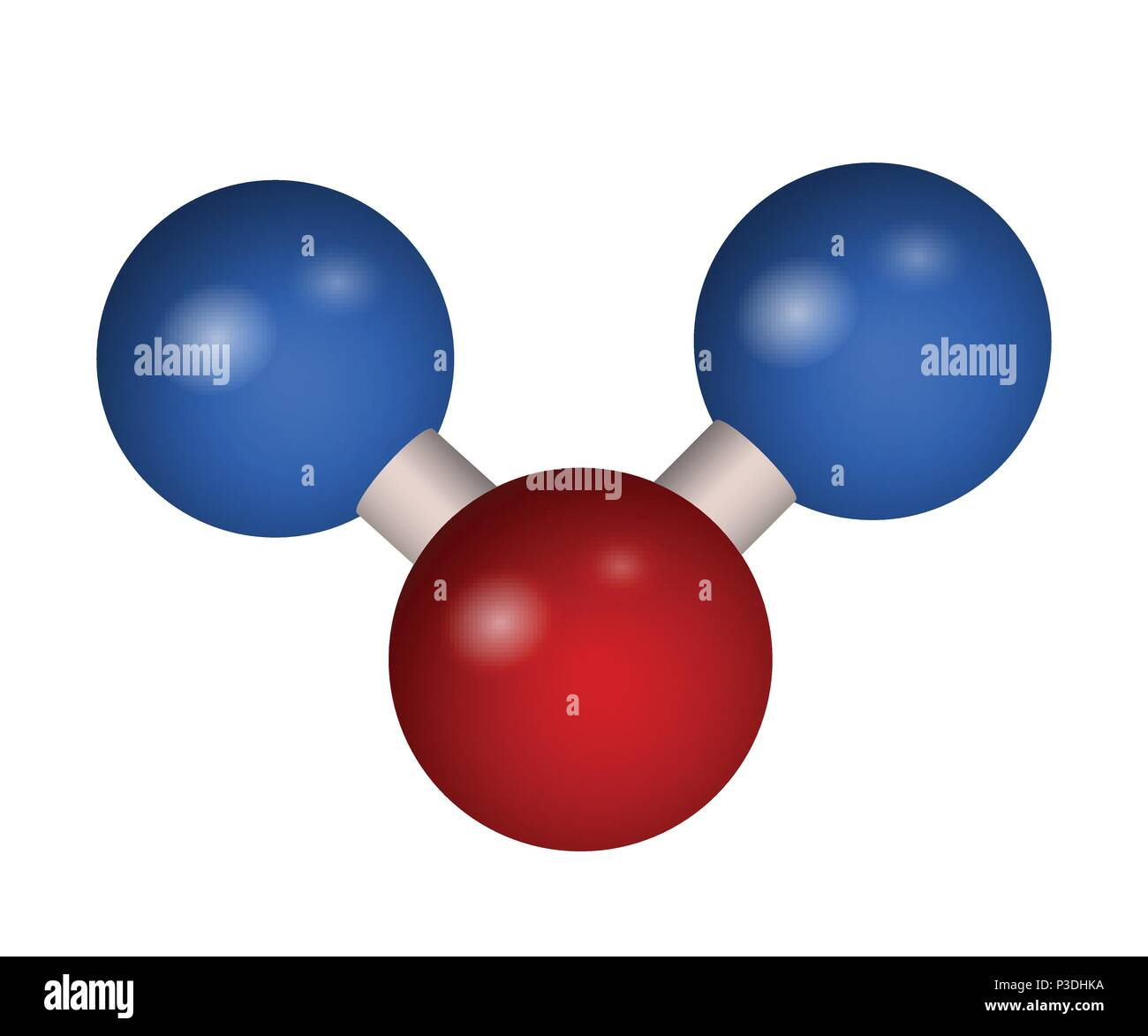 The 3D molecule of carbon dioxide - Stock Image