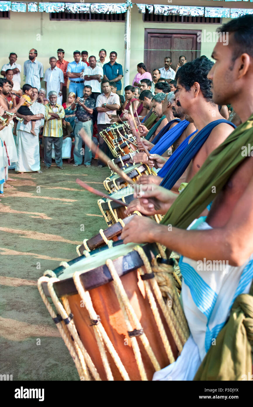 Kerala Temple Music Stock Photos & Kerala Temple Music Stock