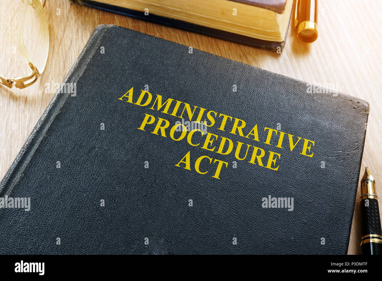 The Administrative Procedure Act (APA) on a desk. - Stock Image