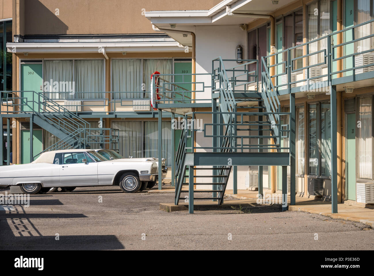 The Lorraine Motel, site of Martin Luther King's assassination on April 4, 1968, in Memphis, Tennessee. (USA) Stock Photo