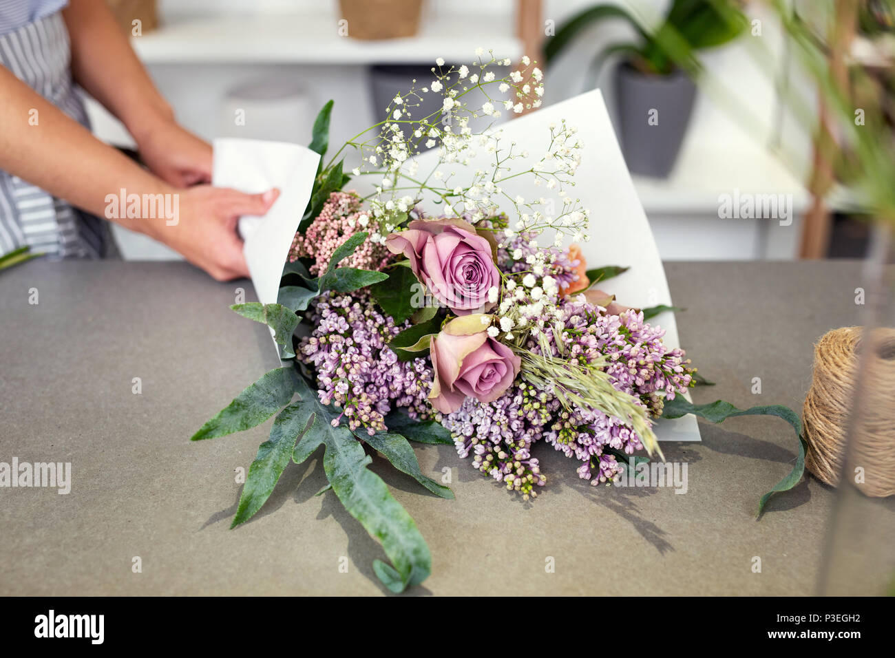 Close up of a beautiful bouquet - Stock Image