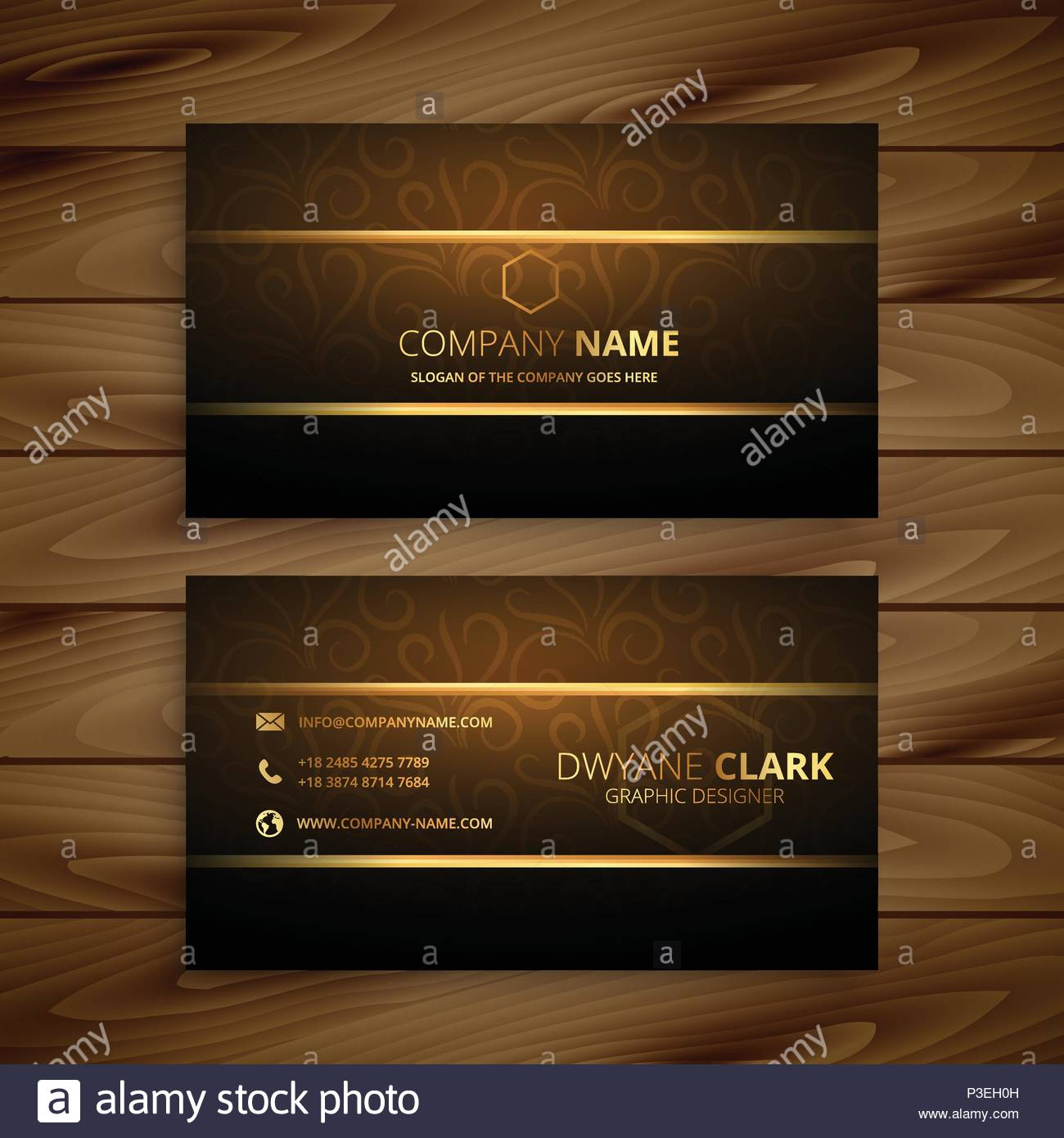 Awesome golden business card design stock vector art illustration awesome golden business card design reheart Images
