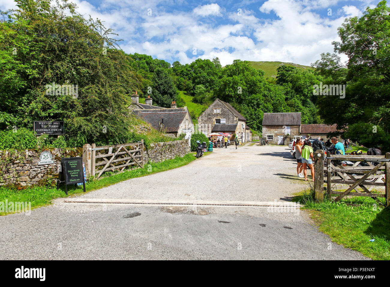 Wetton Mill Tea Rooms or cafe, Wetton Mill, Staffordshire, England, UK - Stock Image