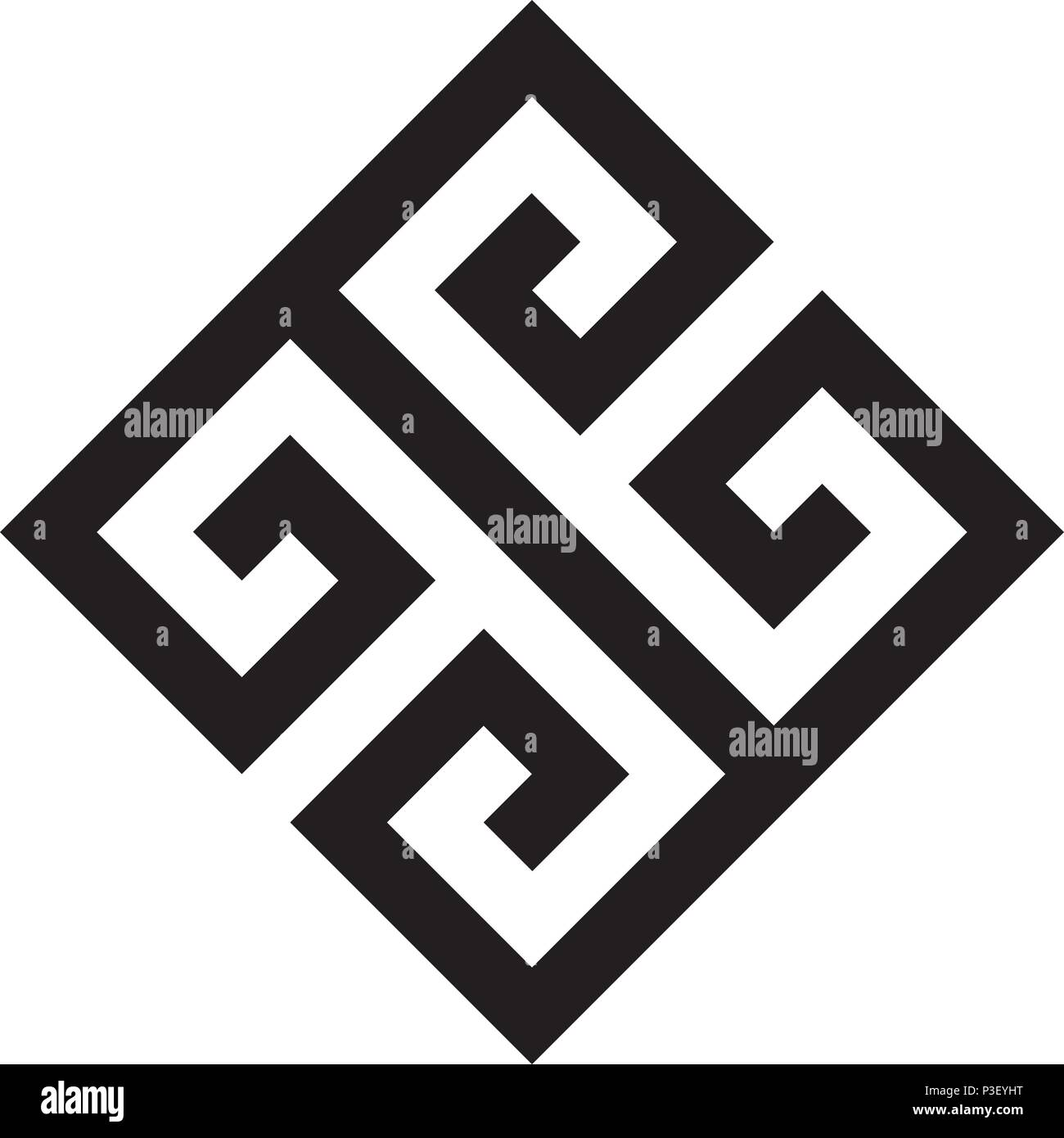 Typical Egyptian Assyrian And Greek Motives Vector Symbol Greek