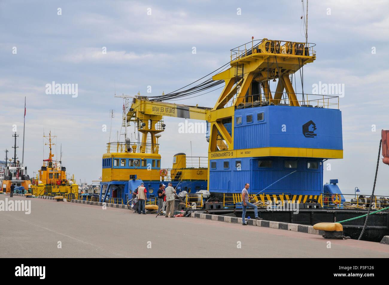 Batumi sea port, Adjara, Georgia - Stock Image