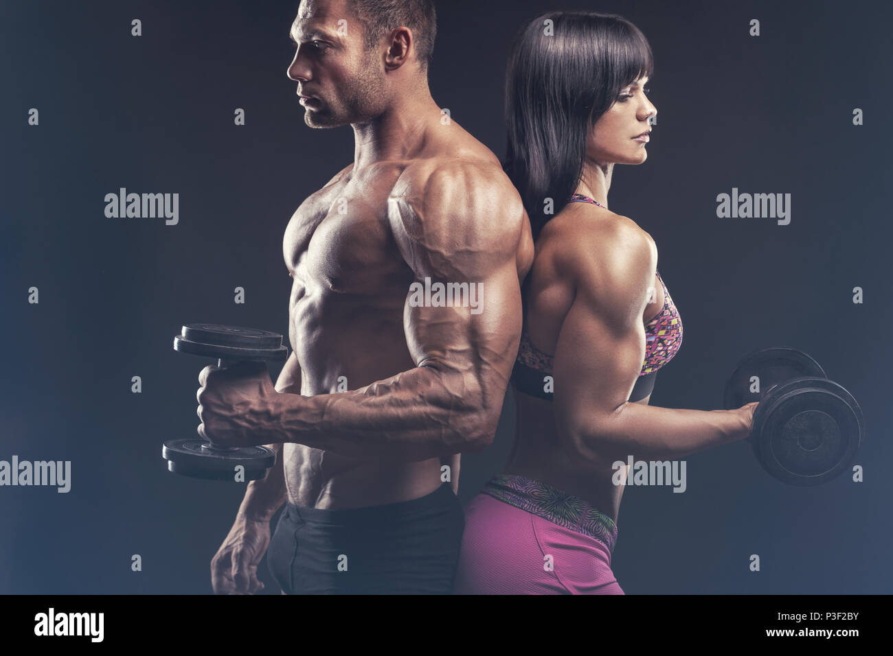 Bodybuilding Couple High Resolution Stock Photography And Images Alamy