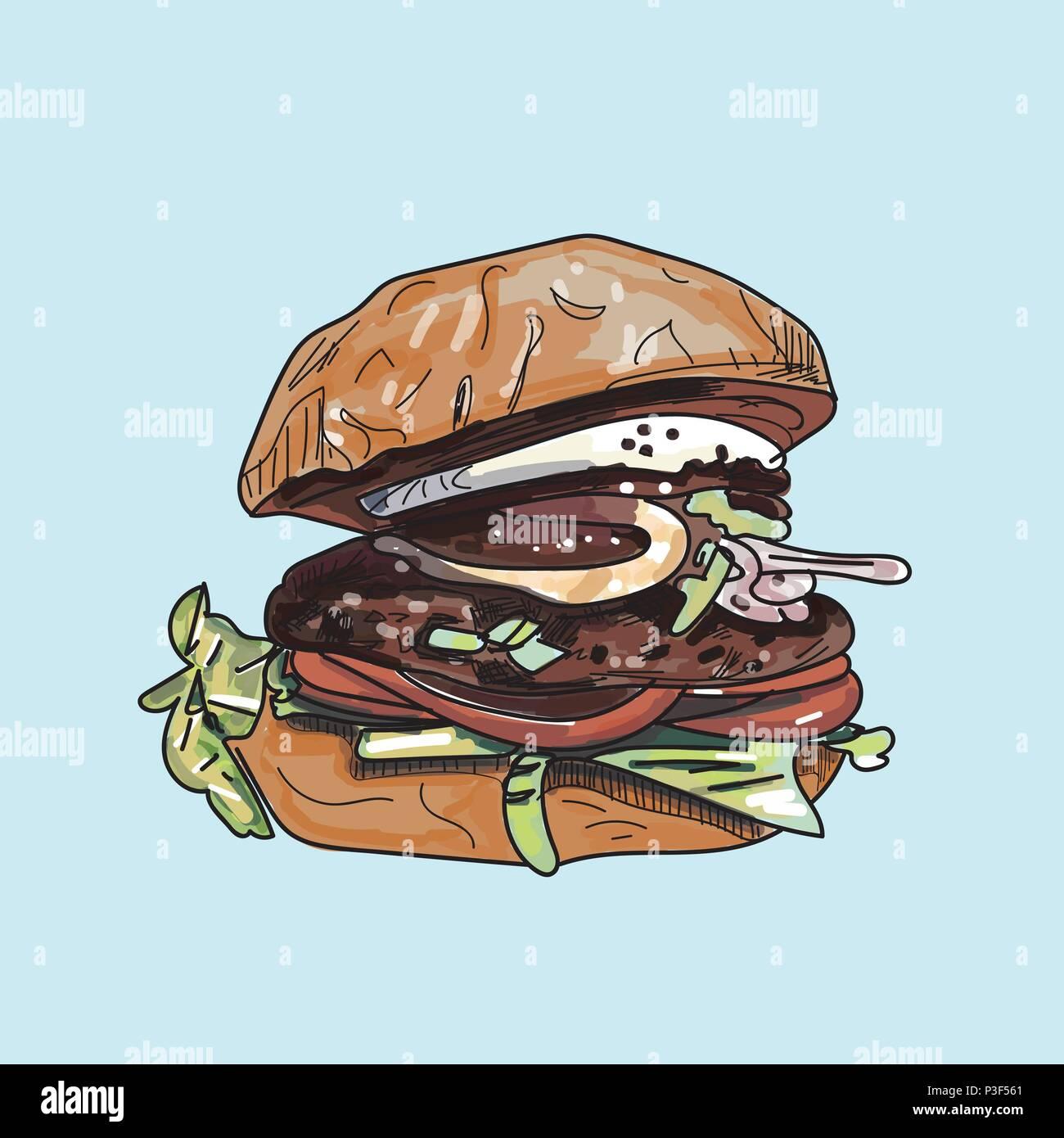 Drawing Burger Art