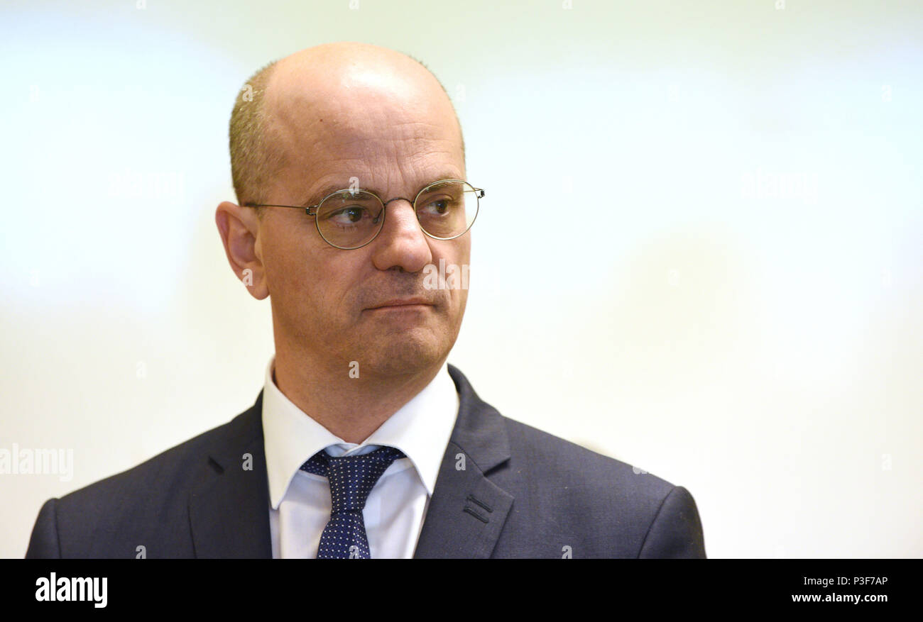 Working Visit Of Jean Michel Blanquer French Minister Of National Education To The High School Lycee Galilee In Franqueville Saint Pierre northe Stock Photo Alamy