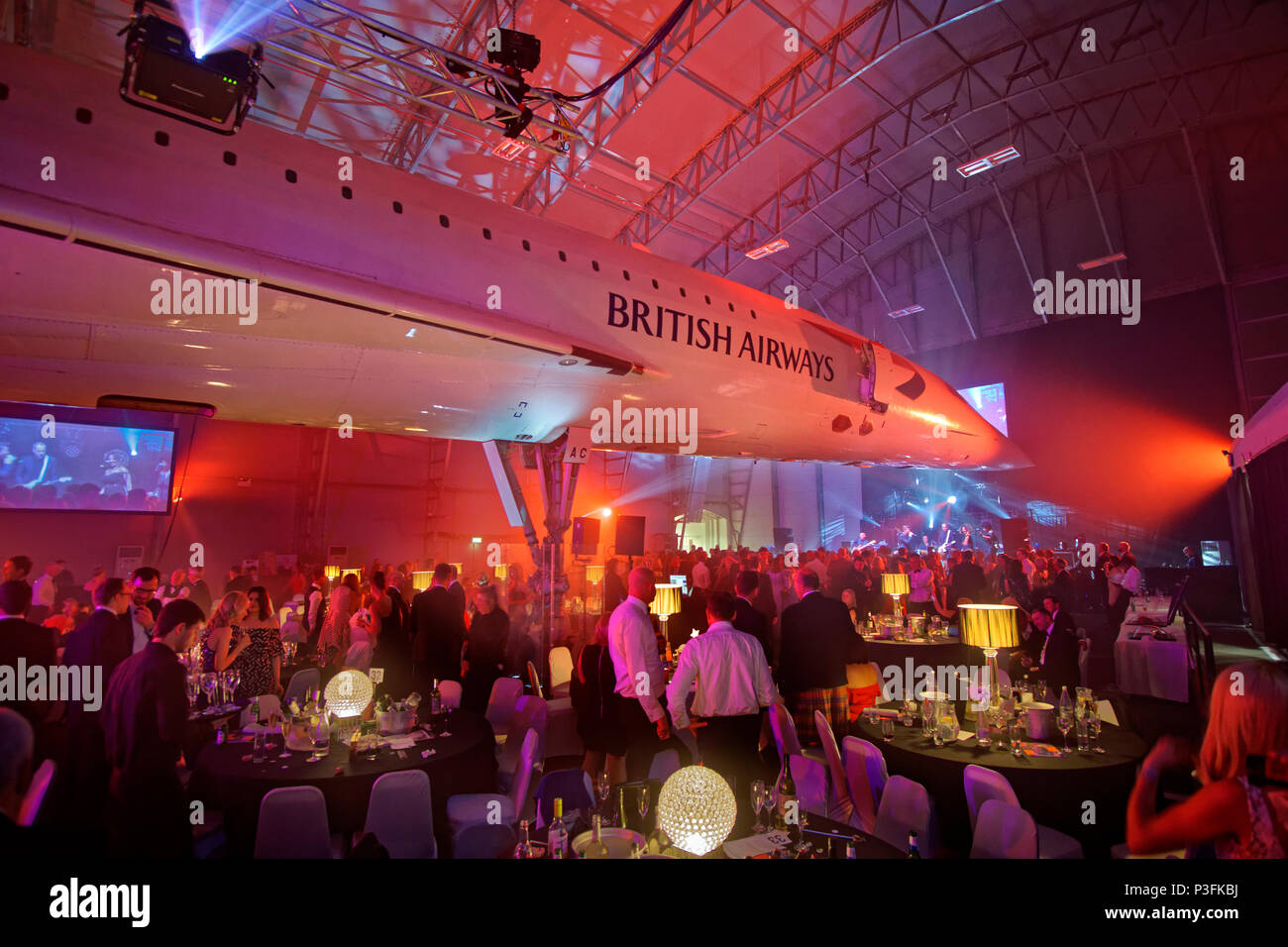 The Concorde suite at Manchester Airport's viewing park at Ringway, Manchester, Greater Manchester, England, UK. - Stock Image