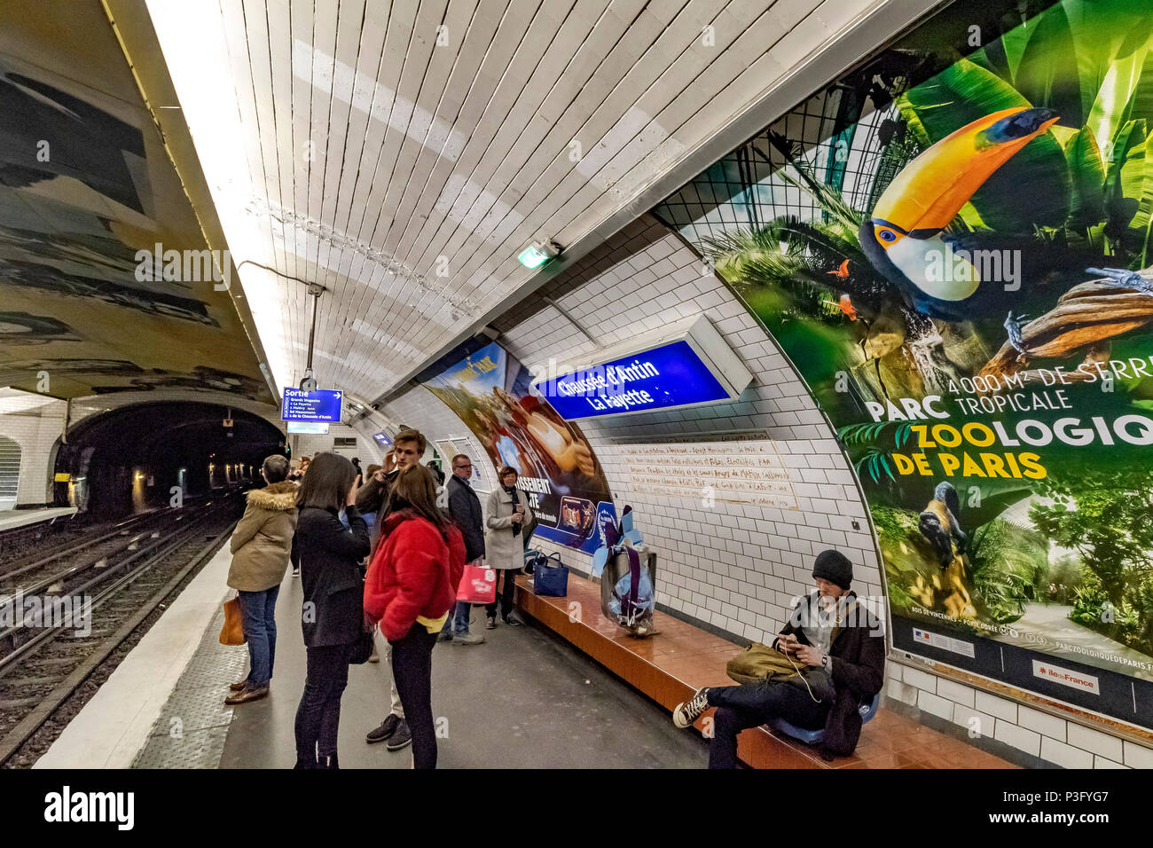 paris metro station stock photos paris metro station stock images alamy. Black Bedroom Furniture Sets. Home Design Ideas