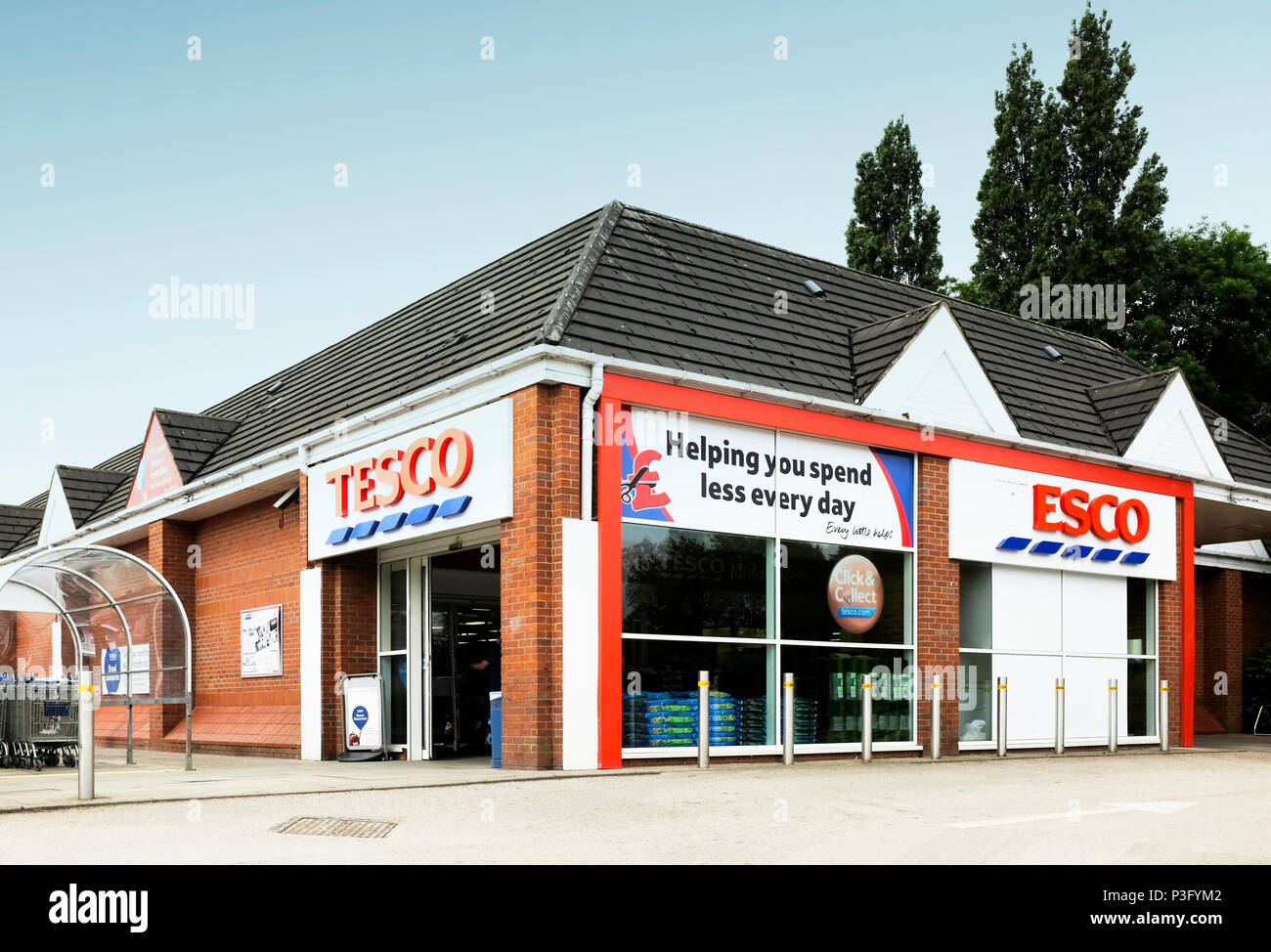 Tesco shop in Middlewich Cheshire UK - Stock Image