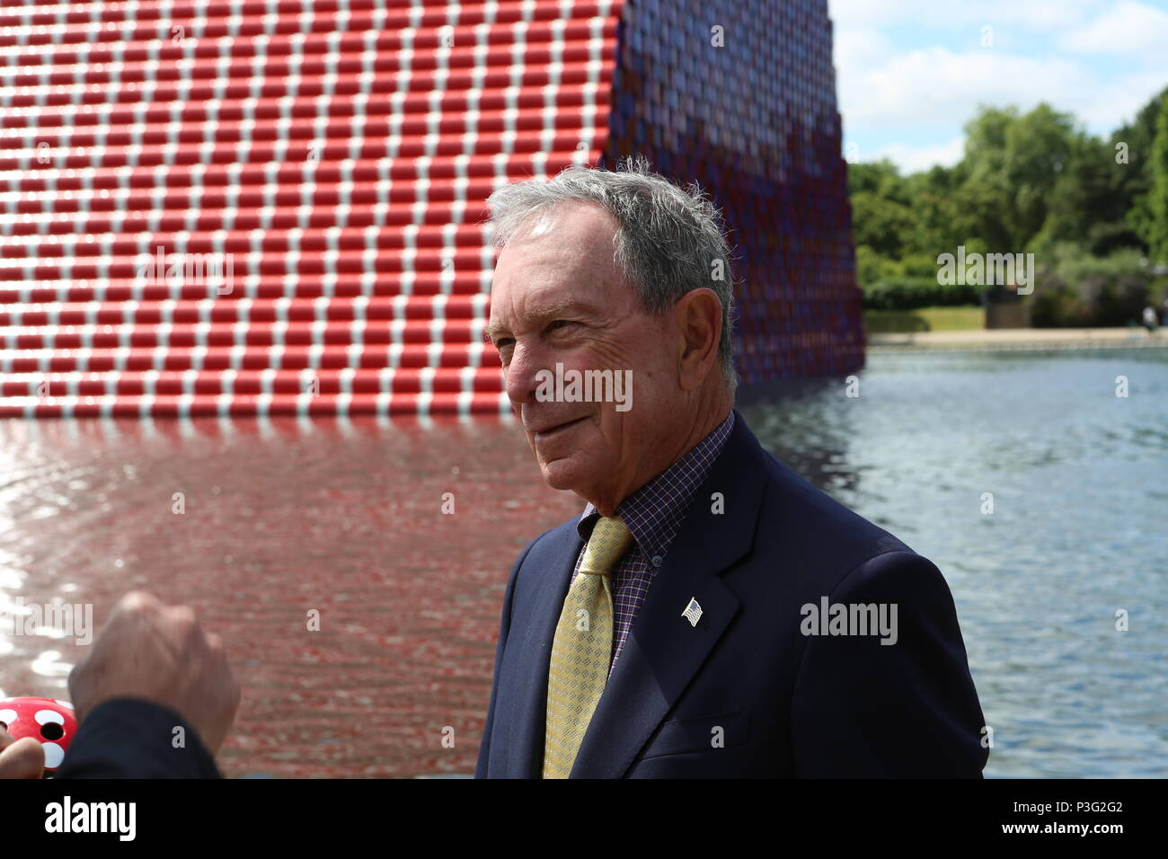 Mike Bloomberg The London Mastaba 18/6/2017 - Stock Image