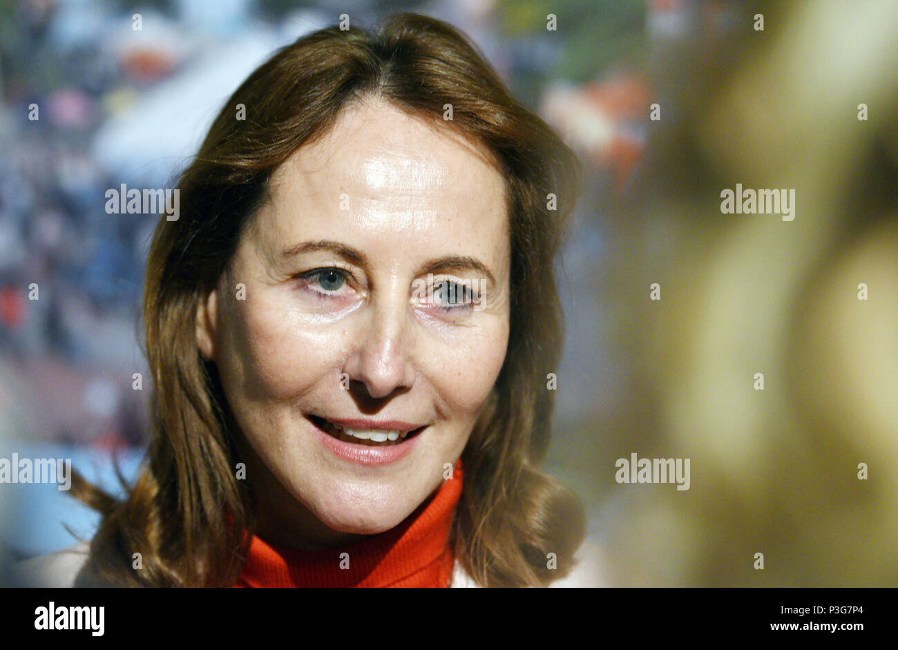 Segolene Royal on 2017/11/23 on the occasion of the inauguration of a biomass boiler near Rouen (northern France) - Stock Image