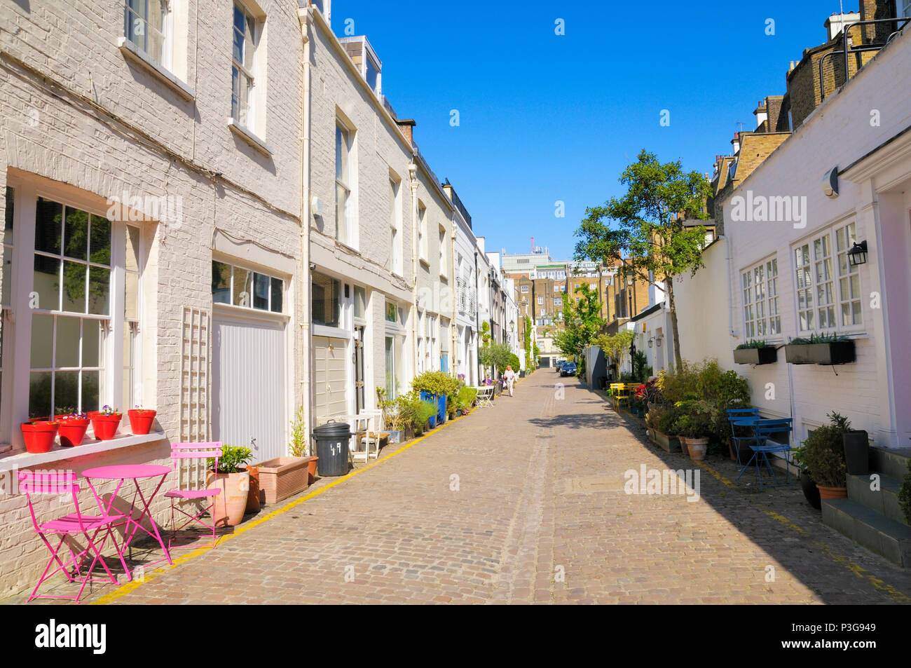 Queen's Gate Mews, South Kensington, Royal Borough of Kensington and Chelsea, London SW7, England, UK - Stock Image