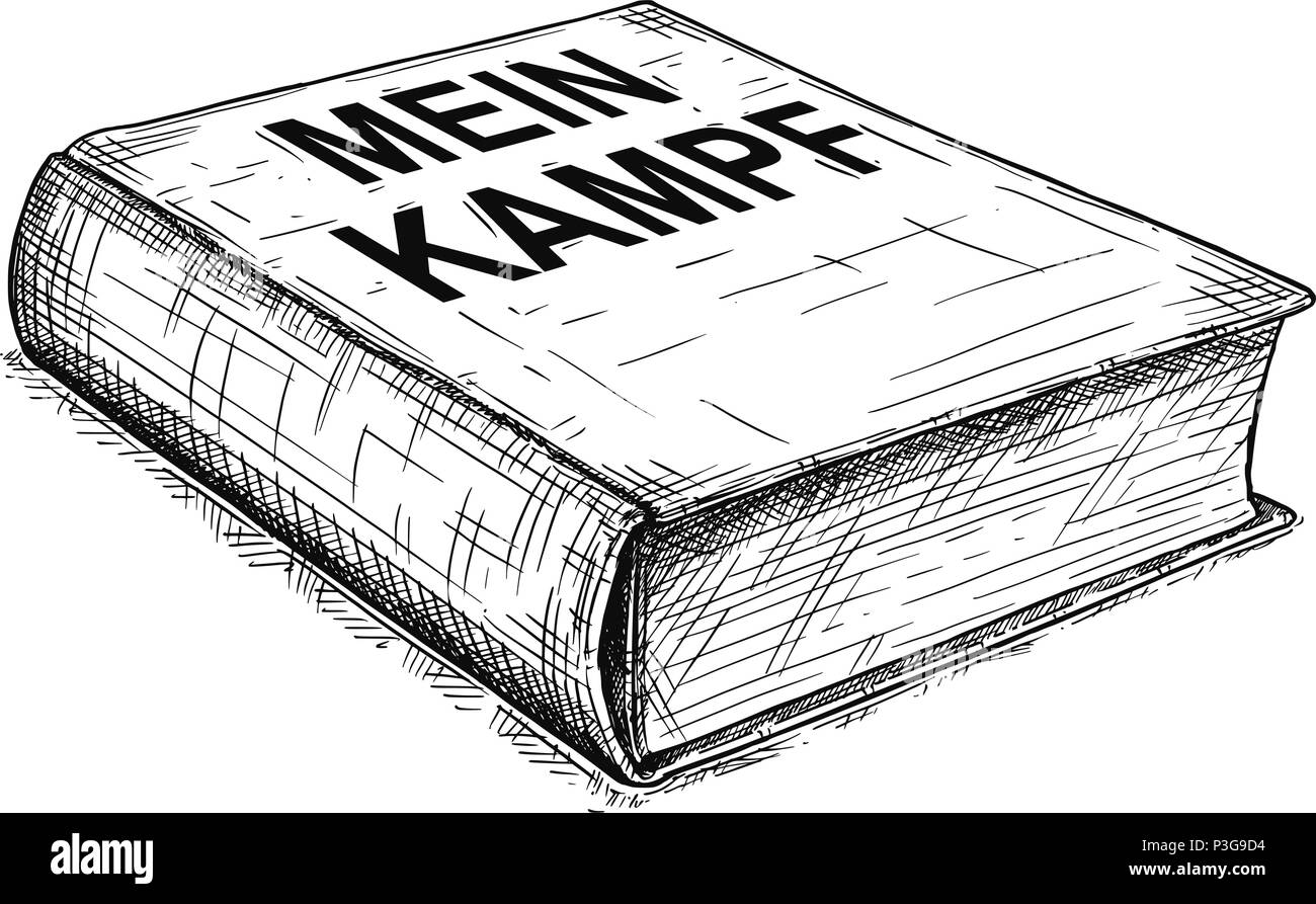 Vector Artistic Drawing Illustration of Book of Adolf Hitler - Mein Kampf - Stock Image