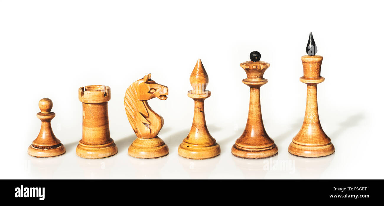 the white checkmate; on white - Stock Image