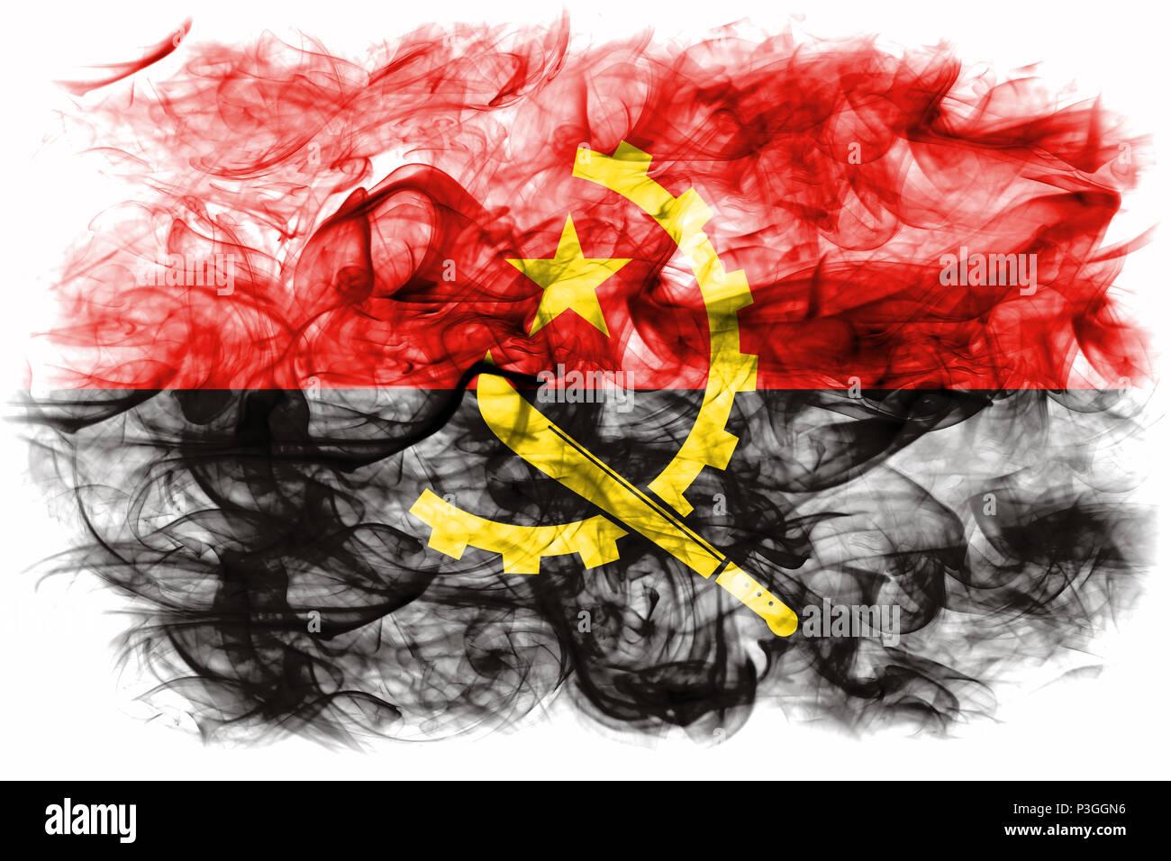 Angola smoke flag - Stock Image