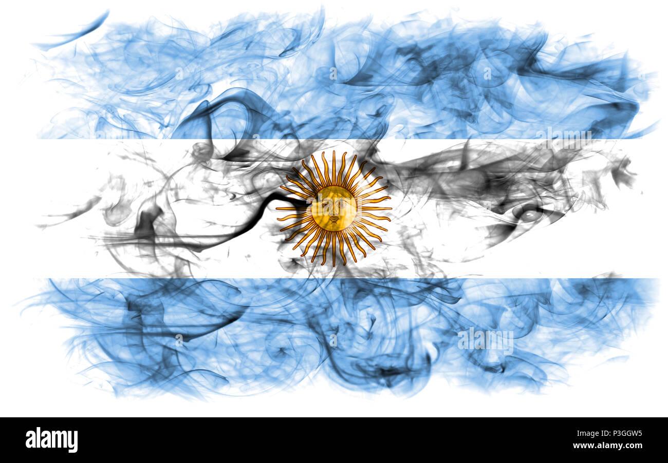 Argentina smoke flag - Stock Image