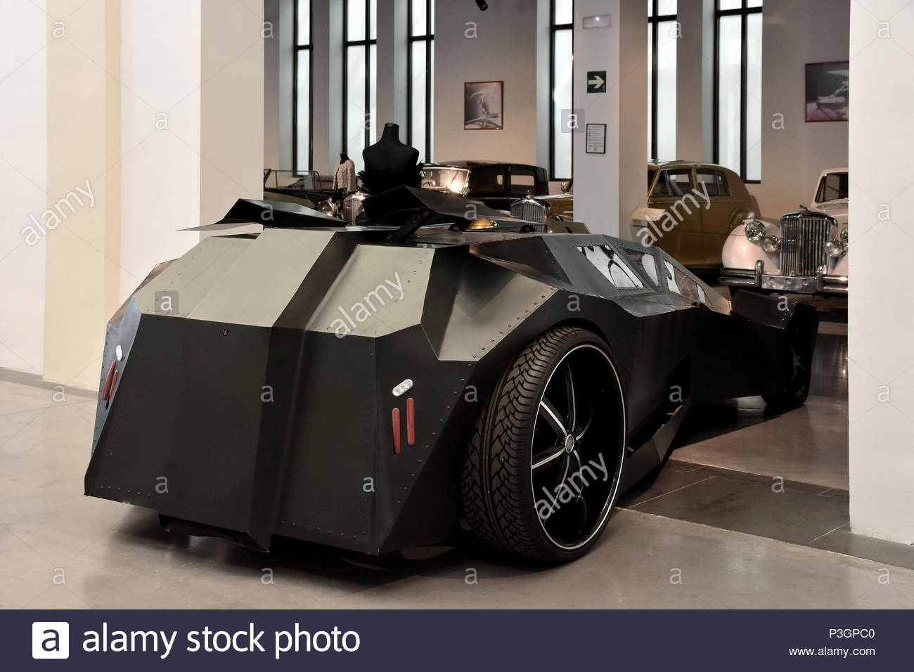 Star Wars Compressed Air Prototype Car displayed at Museum of Automobiles (Museo Automovilístico) in Malaga Spain Europe. - Stock Image