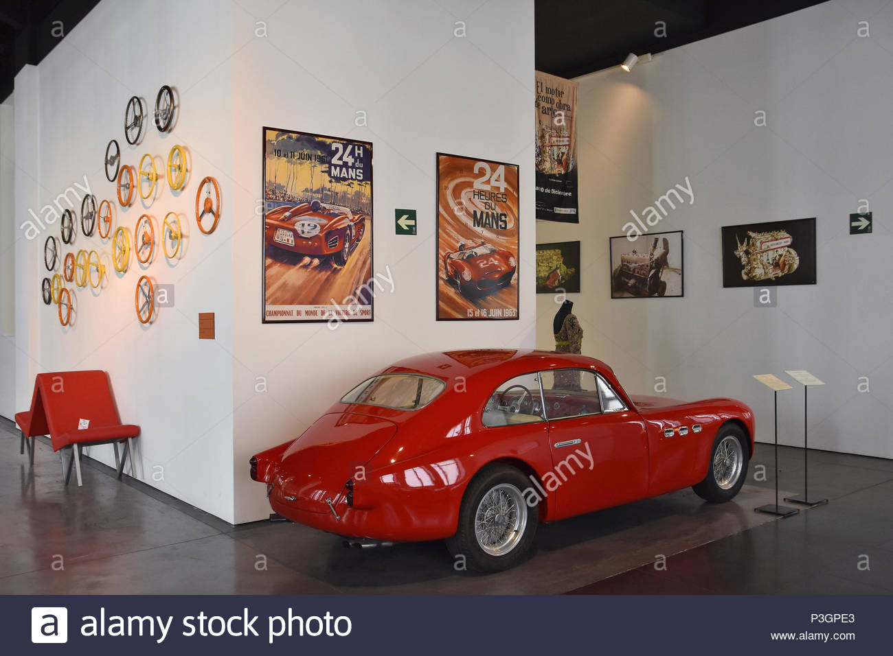 'Playboy's Car' 1950 Maserati - Model 1500 A6, displayed at Automobile Museum (Museo Automovilístico) in Malaga Spain Europe. - Stock Image