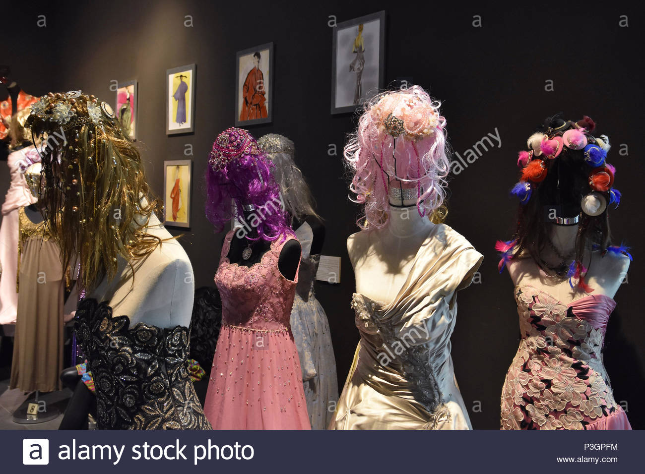 Figures Wearing Dresses From Famous Fashion Designers One Of The Haute Couture Collections Displayed At Automobile And Fashion Museum In Malaga Spain Stock Photo Alamy