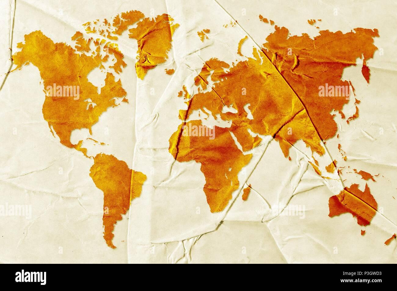 Sepia Map Stock Photos Sepia Map Stock Images Alamy - World map sepia toned
