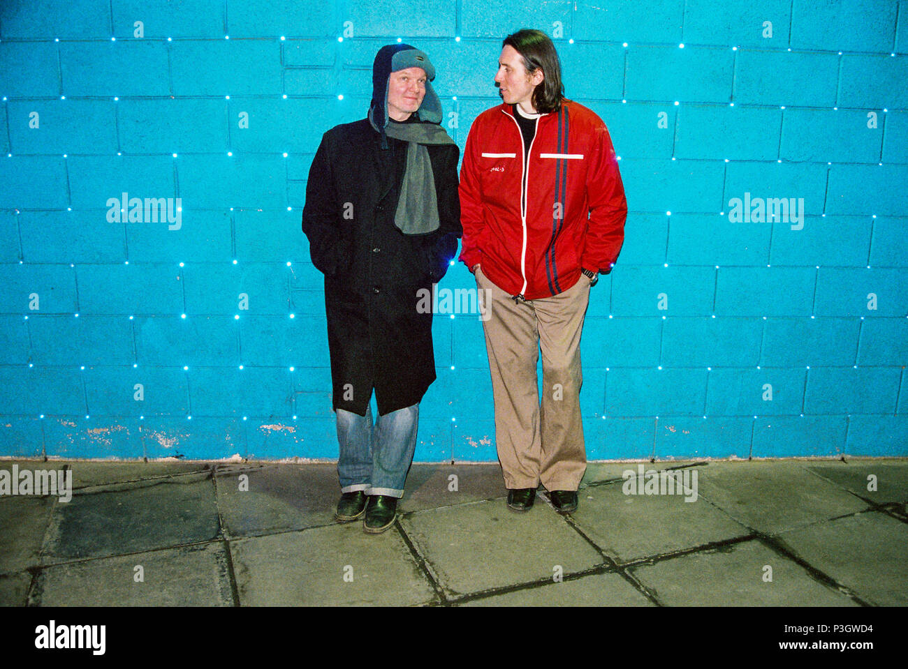 Guy Chadwick and Terry Bickers from House of Love, Photographed on the South Bank March 2005, London, England, United Kingdom. - Stock Image