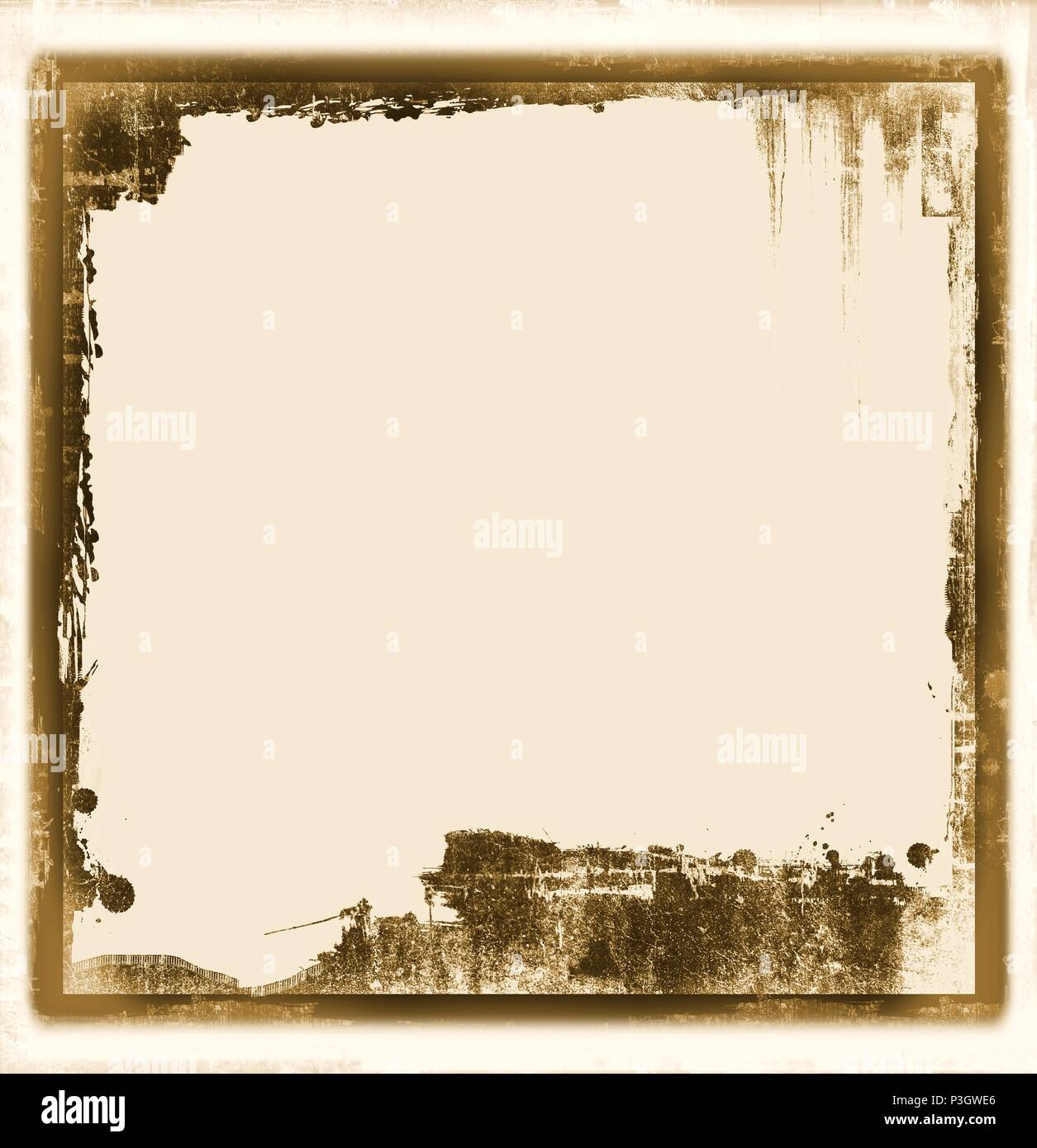 Vintage frame borders on sepia paper background Stock Photo ...