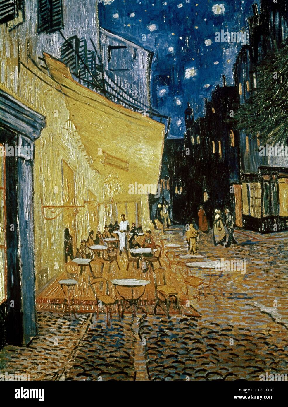 Cafe Terrace By Vincent Van Gogh Stock Photos Cafe Terrace