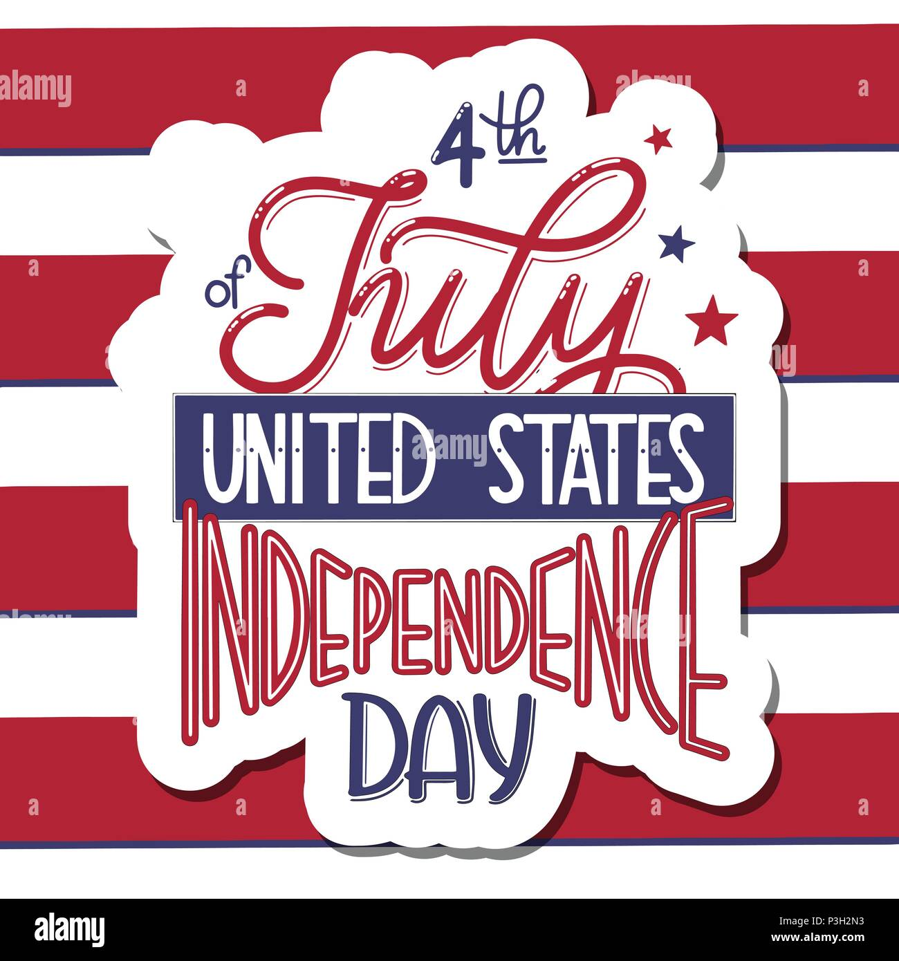 4th of July  USA independence day  Vector elements for invitations