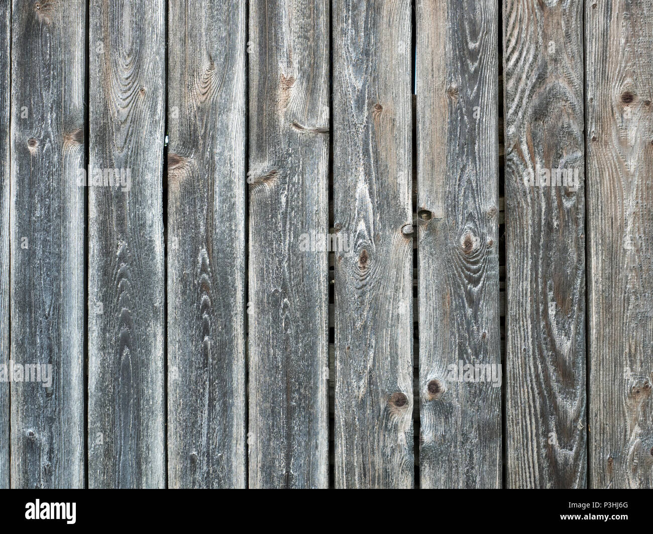 Grey wooden planks background - Stock Image
