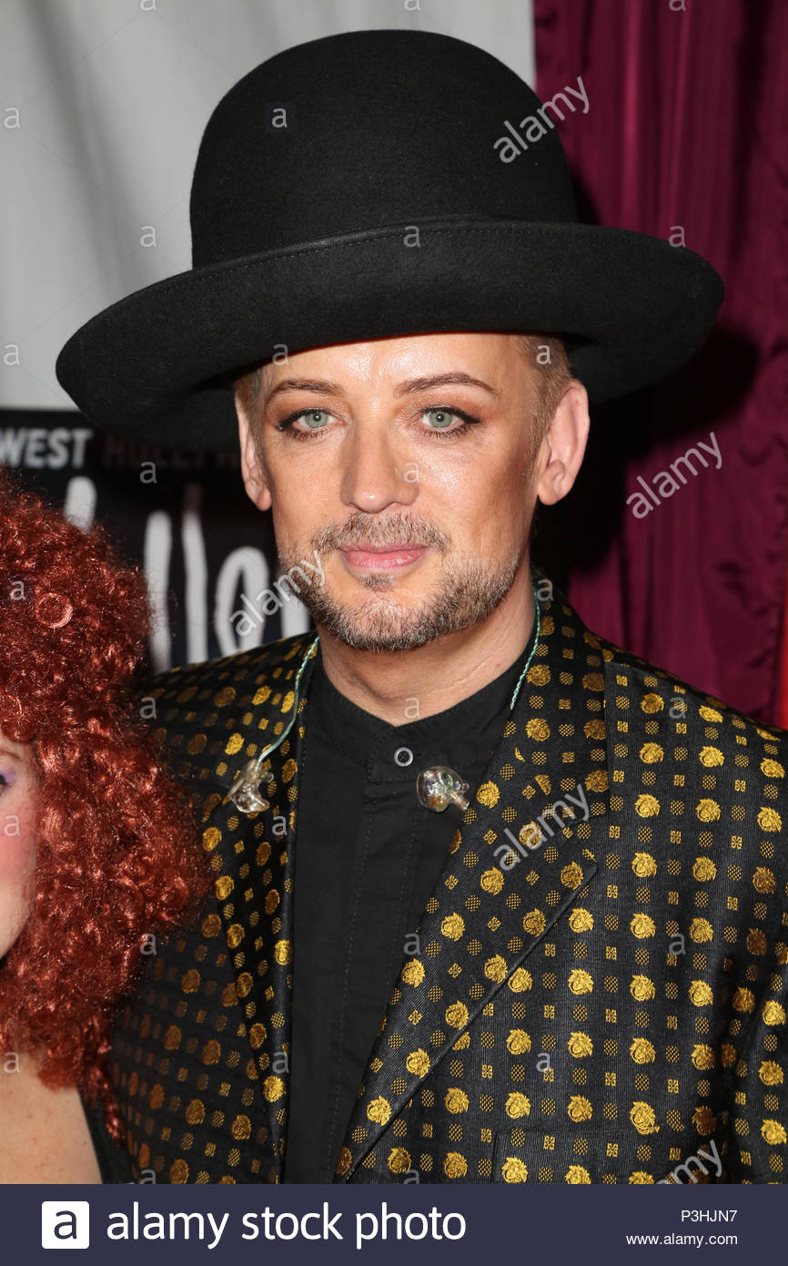 boy george. kenny ortega and laverne cox at the halloween carnaval