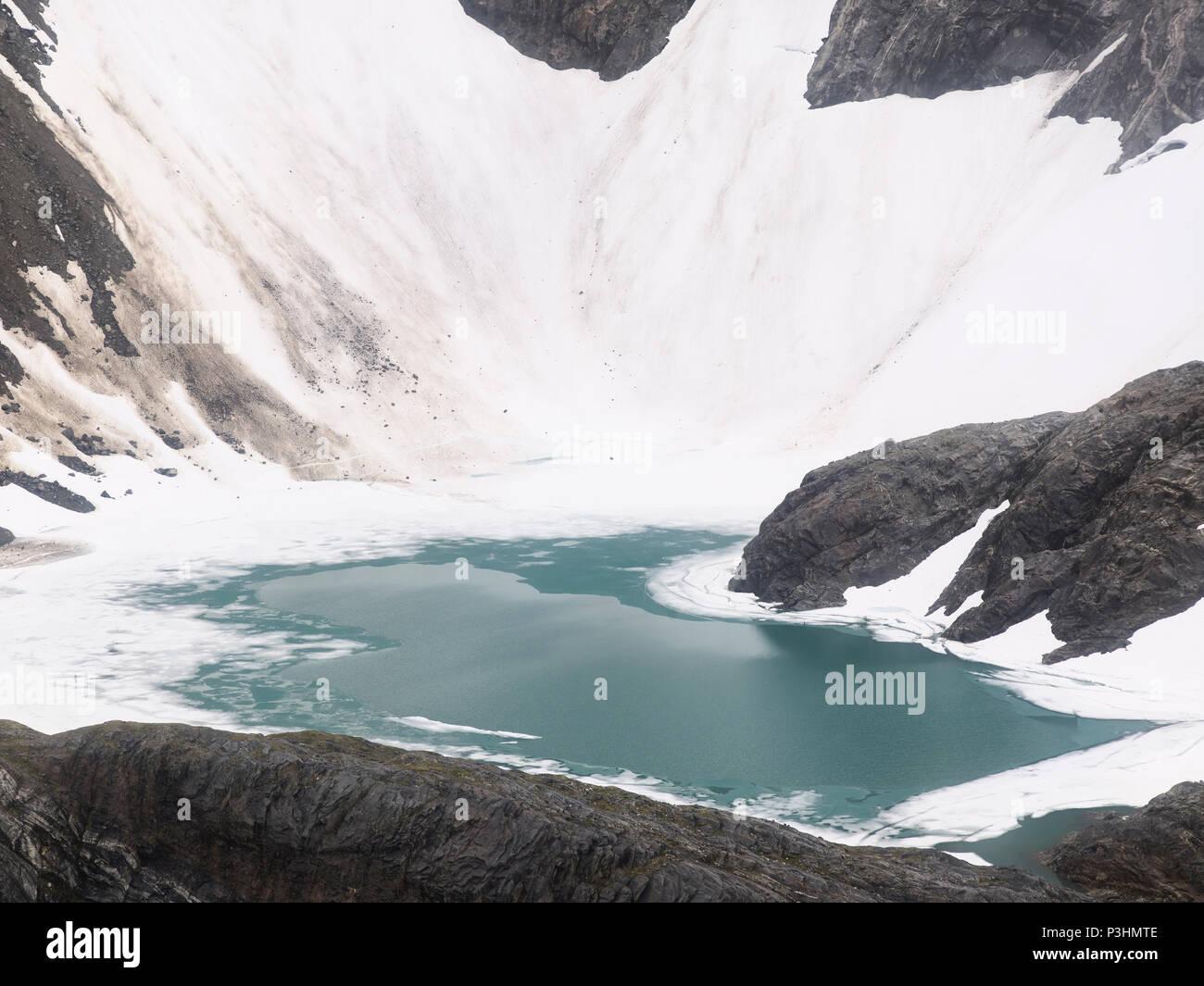 Small Glacial Lake Near Mendenhall Glacier, Alaska - Stock Image