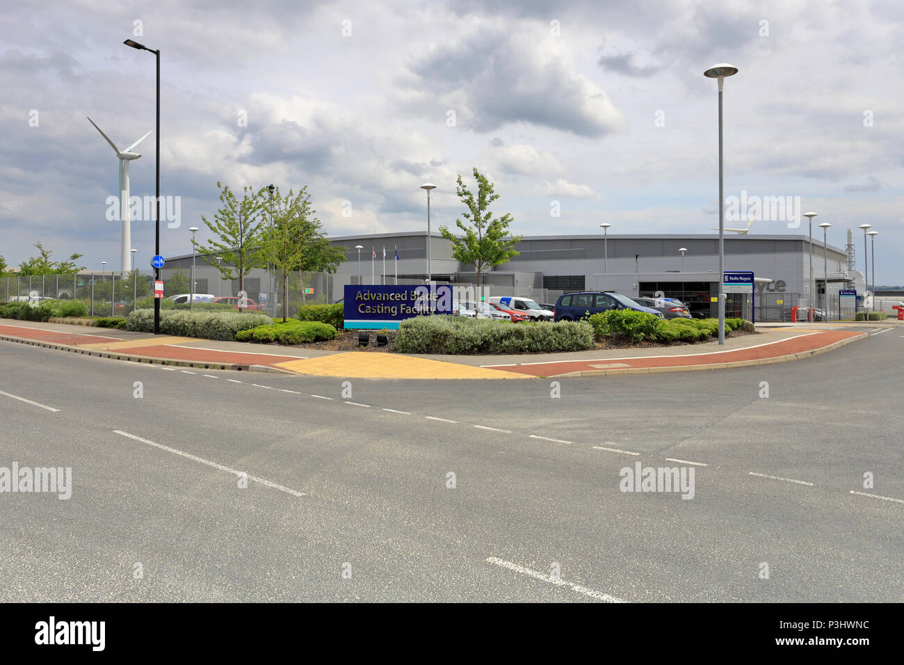 Rolls-Royce Advanced Blade Casting Facility building at the Advanced Manufacturing Park, Catcliffe near Rotherham, South Yorkshire, England, UK. - Stock Image