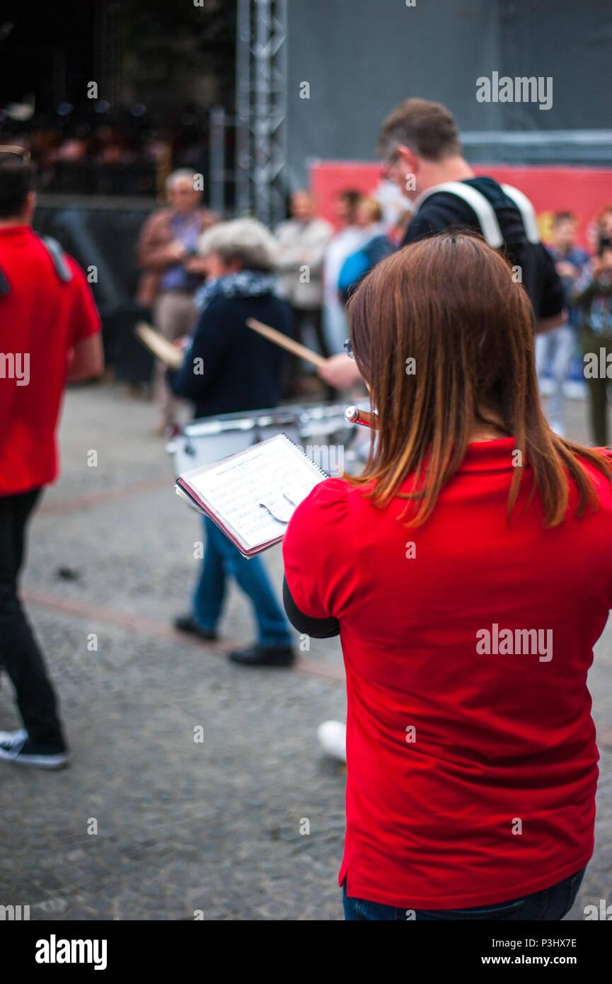 Luxembourg public choir performances during music festival (Fete de la musique) - Stock Image