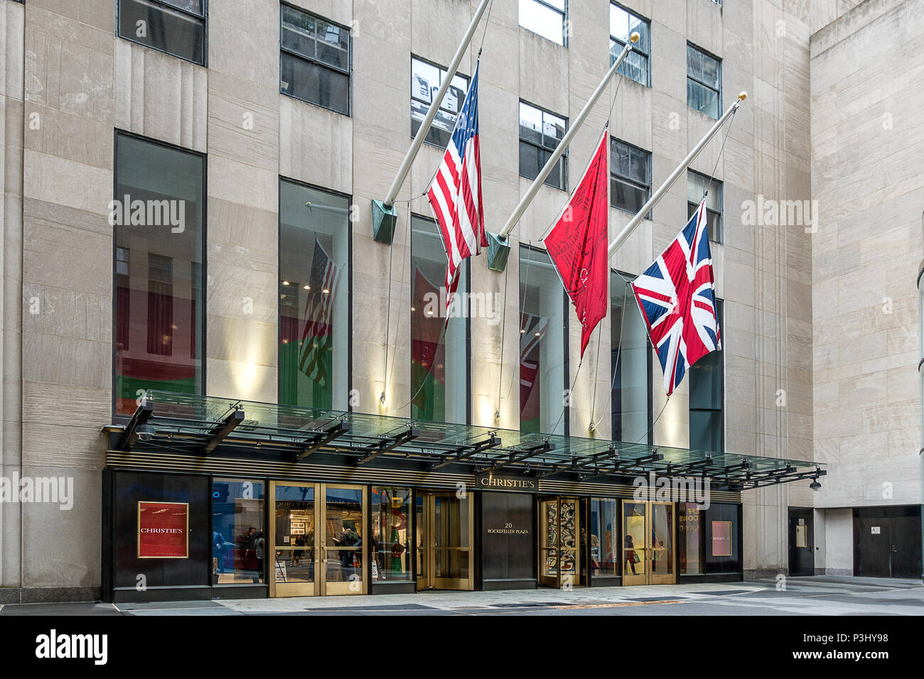 Christies auctioners in New York - Stock Image