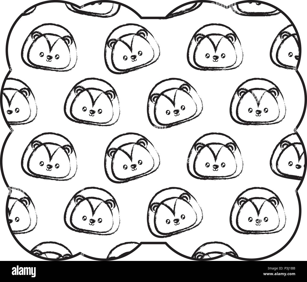 eyes lion black and white stock photos images page 2 alamy Japan Eyeglass Frames decorative frame with cute lion pattern over white background vector illustration stock image