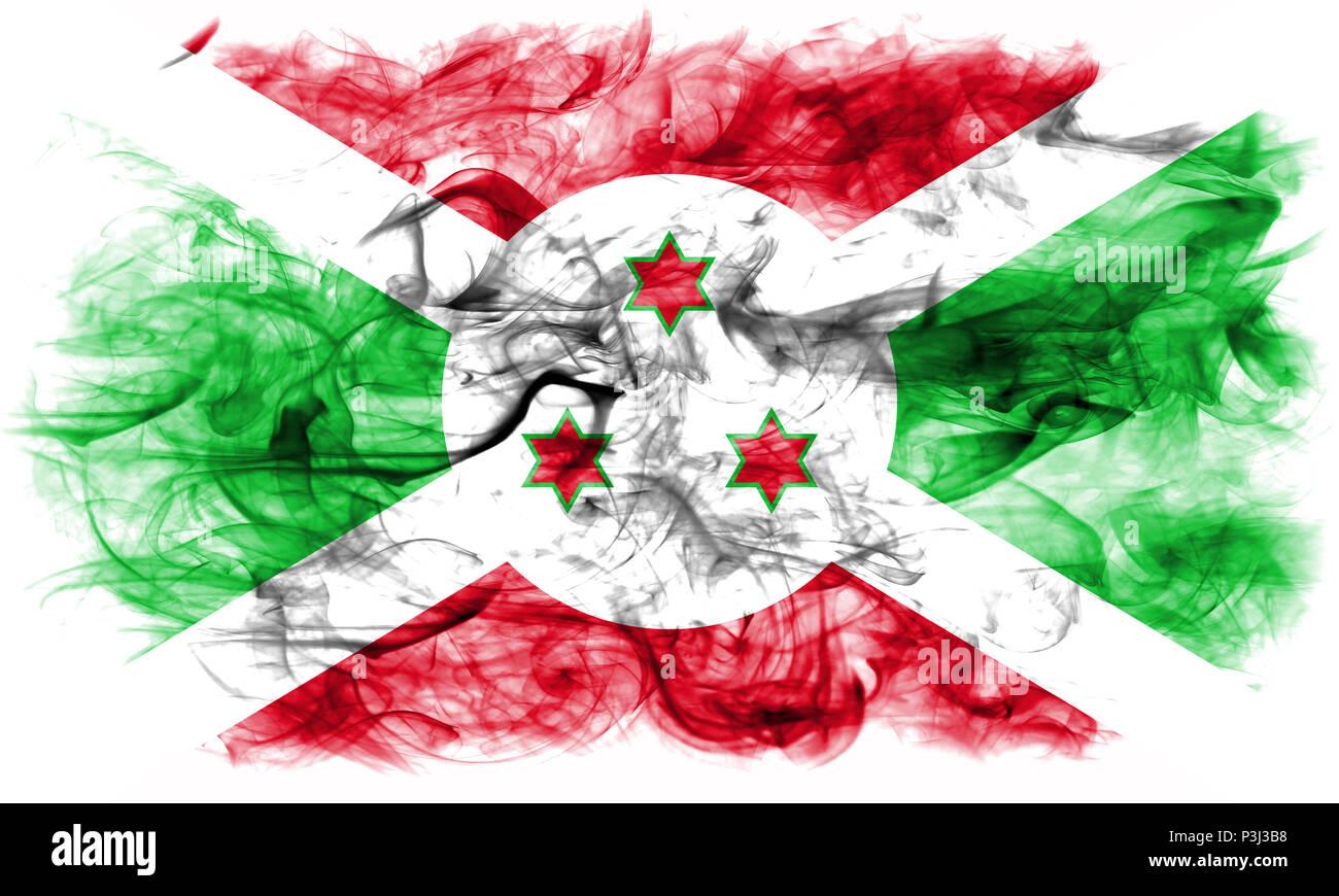 Burundi smoke flag - Stock Image