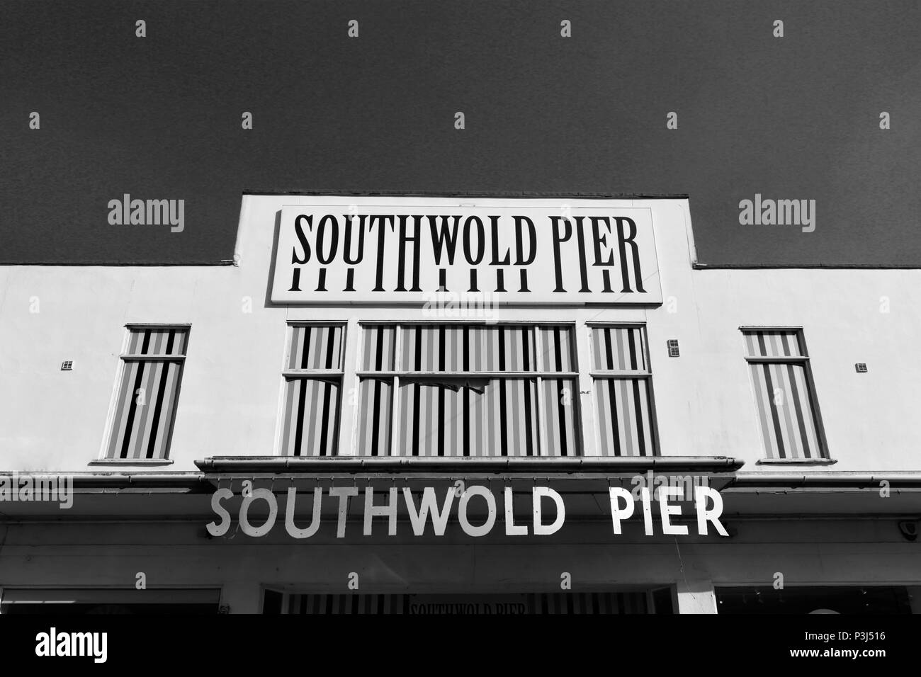 Southwold Pier, Southwold Town, Suffolk County, England, UK, - Stock Image