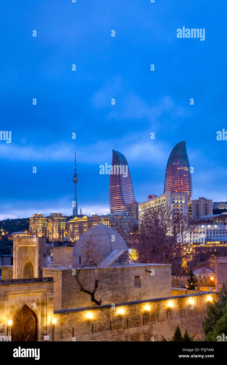 Palace of the Shirvanshahs, Baku, Azerbaijan - Stock Image