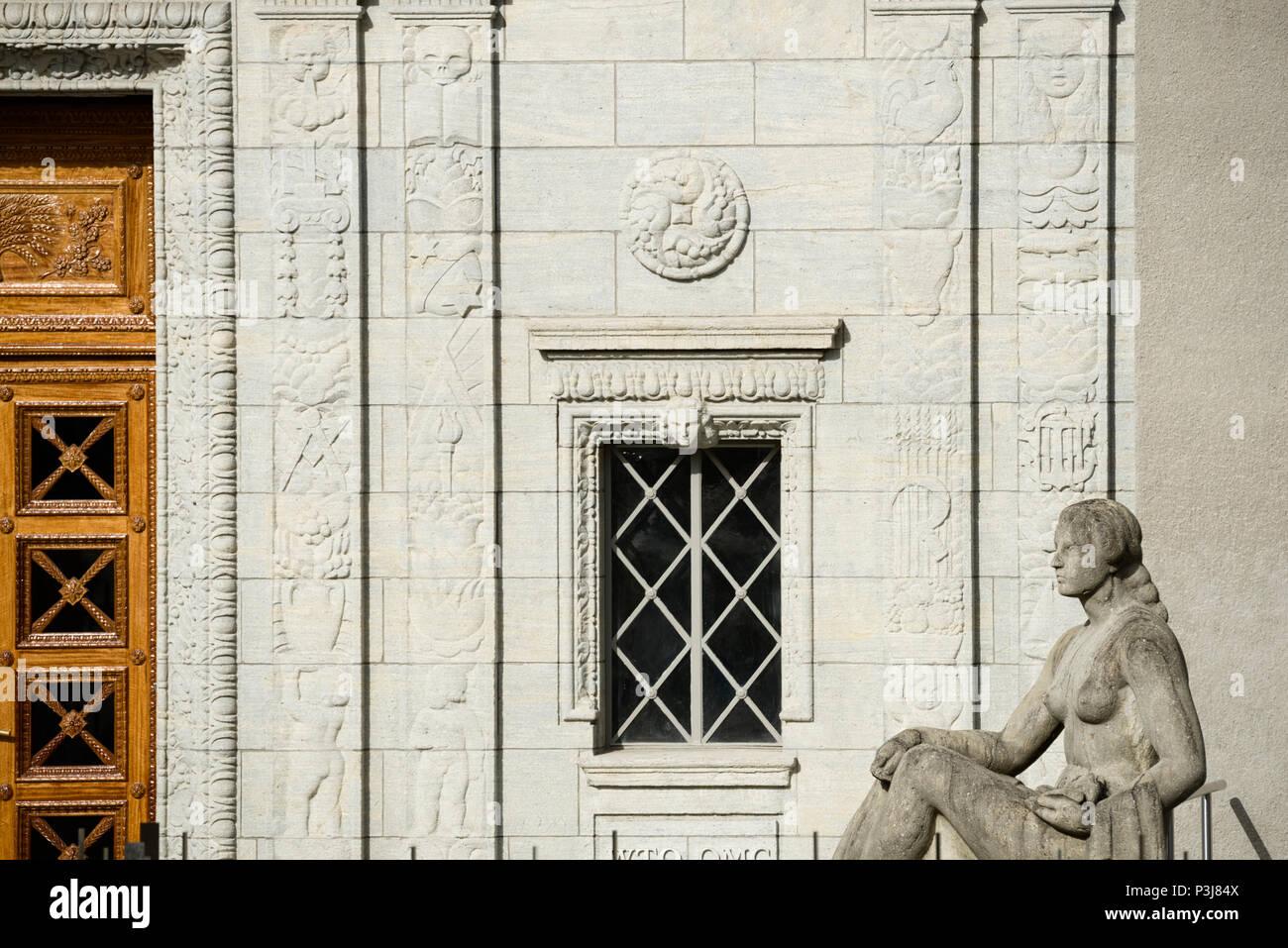 Geneva, Switzerland - june 10, 2018 : Centre William Rappard, Home of the World Trade OrganizationWorld Trade Organization (WTO) Stock Photo