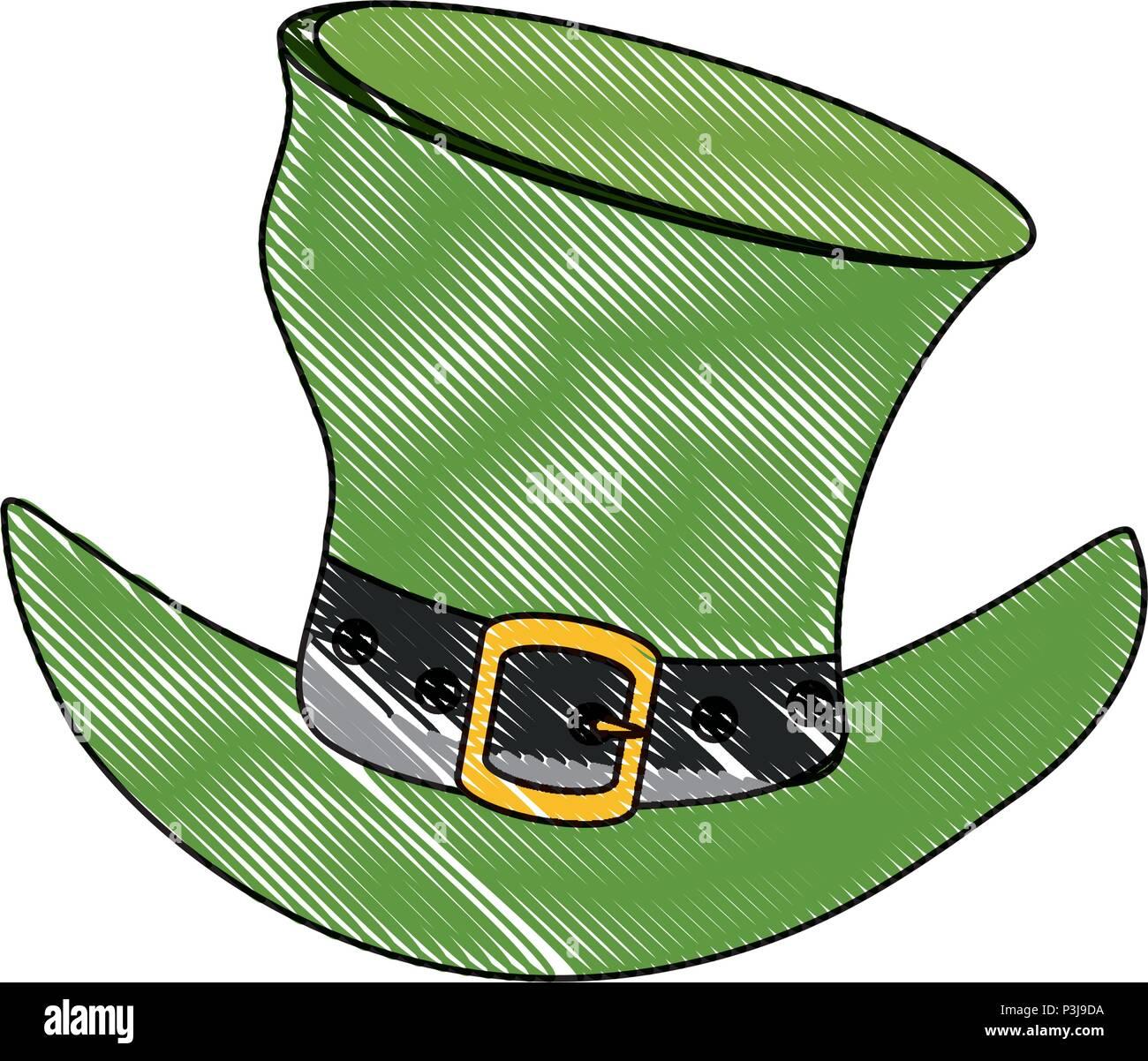 4e0fdbaa irish top hat icon over white background, vector illustration Stock ...