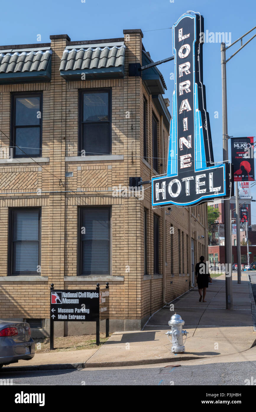 Memphis, Tennessee - The National Civil Rights Museum at the Lorraine Motel, where Martin Luther King, Jr. was assassinated in 1968. Stock Photo