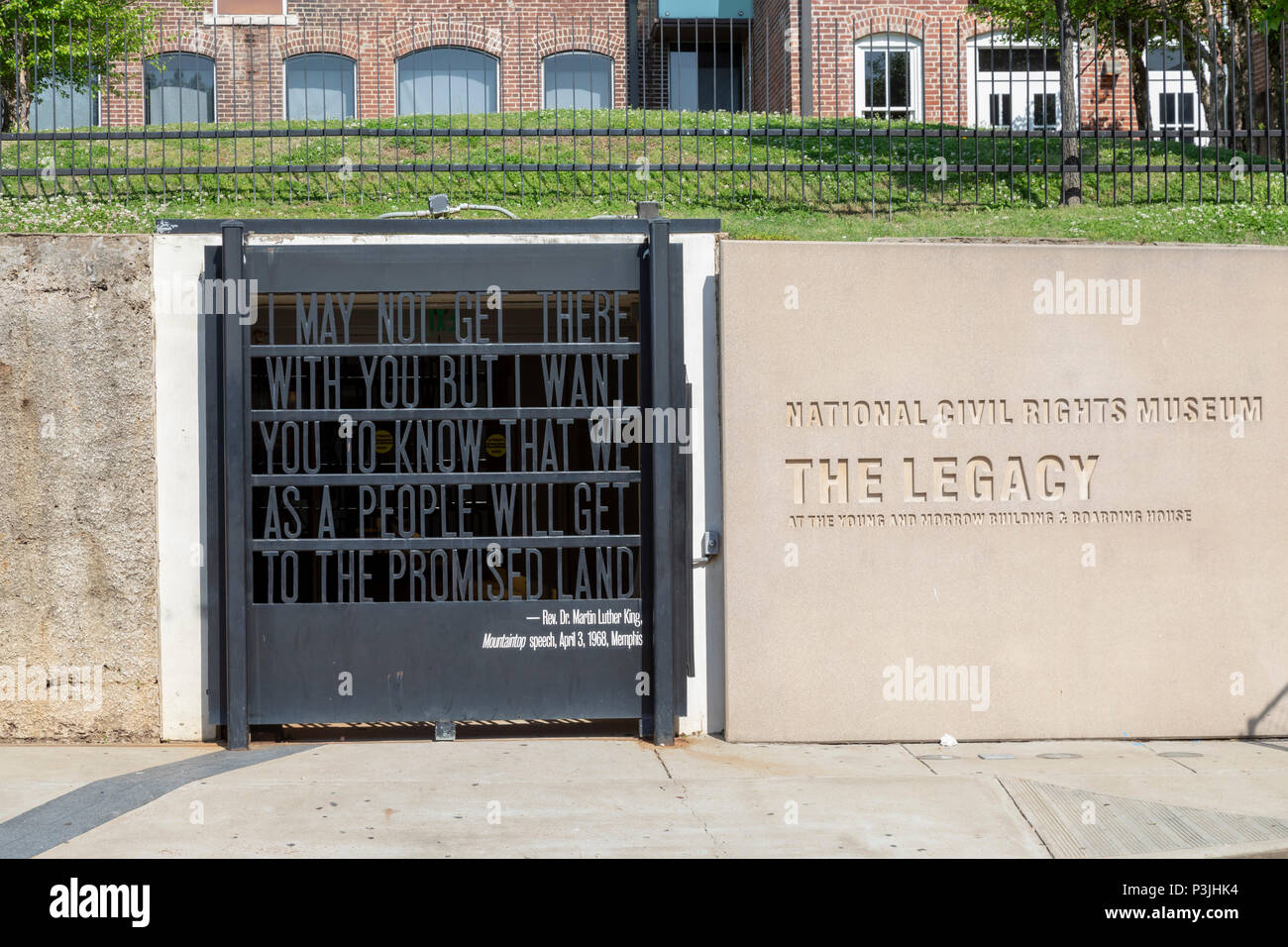 Memphis, Tennessee - The entrance to the Legacy Building, a former