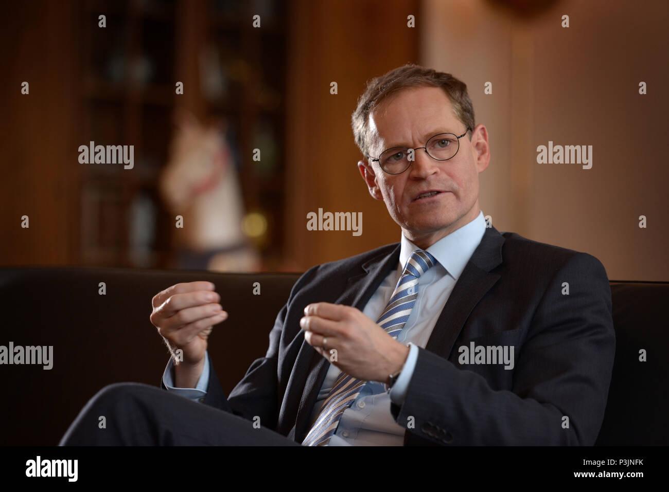 Berlin, Germany - Mayor Michael Mueller - Stock Image